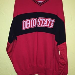 Lee Shirts - Ohio State pull over embroidered logo sweatshirt L